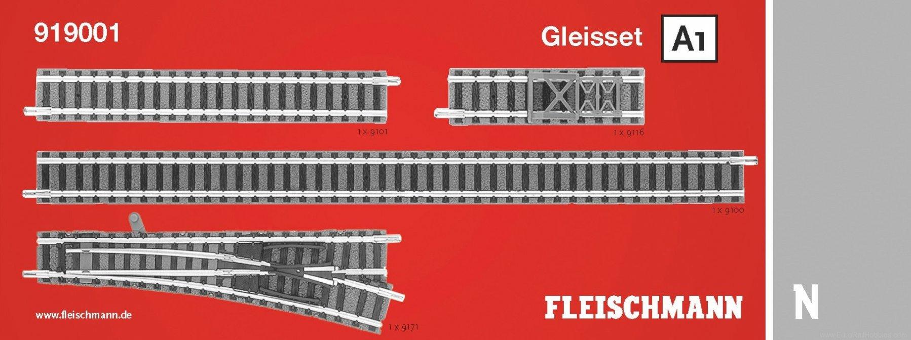 Fleischmann 919001 N Track Extension Set A1