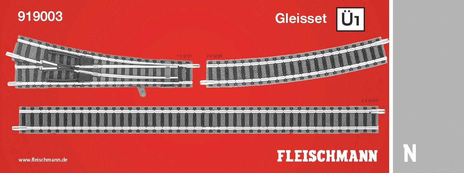 Fleischmann 919003 N Track Extension Set U1
