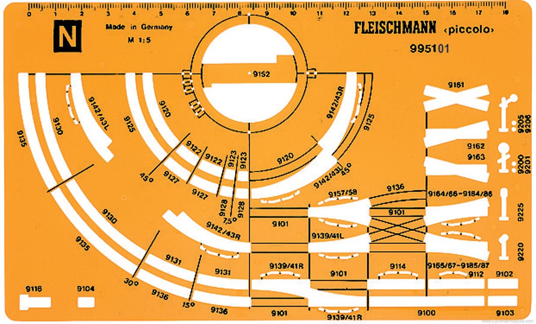 Fleischmann 995101 N Track plan stencil N «piccolo».