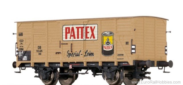 "Brawa 67423 Covered Freight Car G10 ""Pattex"" DB"