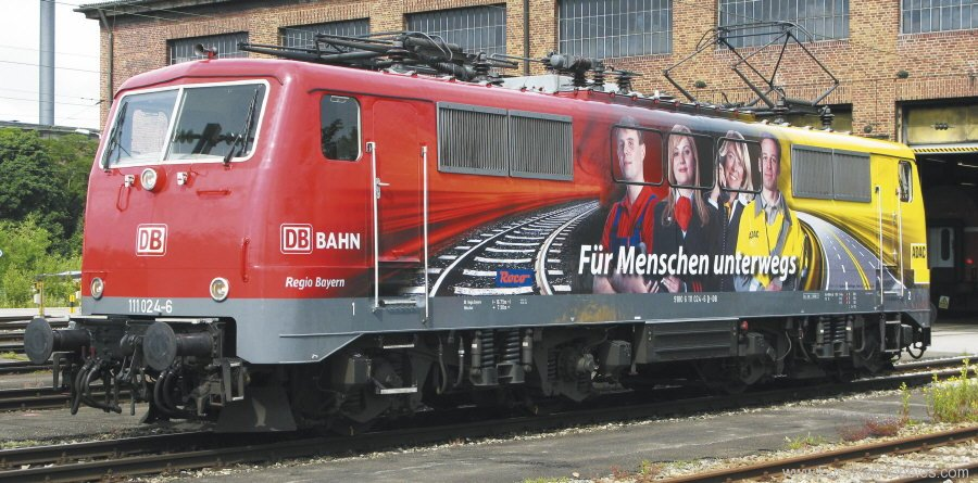 Fleischmann 781381 Electric locomotive 111,024-6 of the DB AG. (