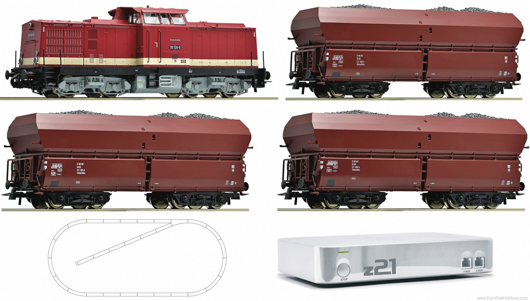 Roco 41508 Digital starter set z21 diesel locomotive ser