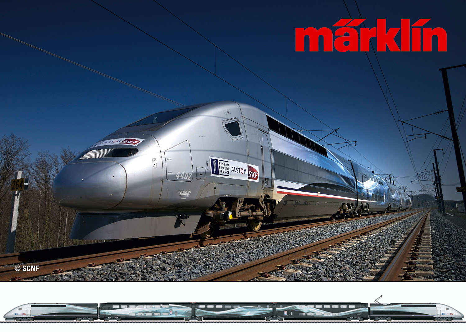 Marklin 37797 SNCF TGV Duplex V150 - Limited number available again!