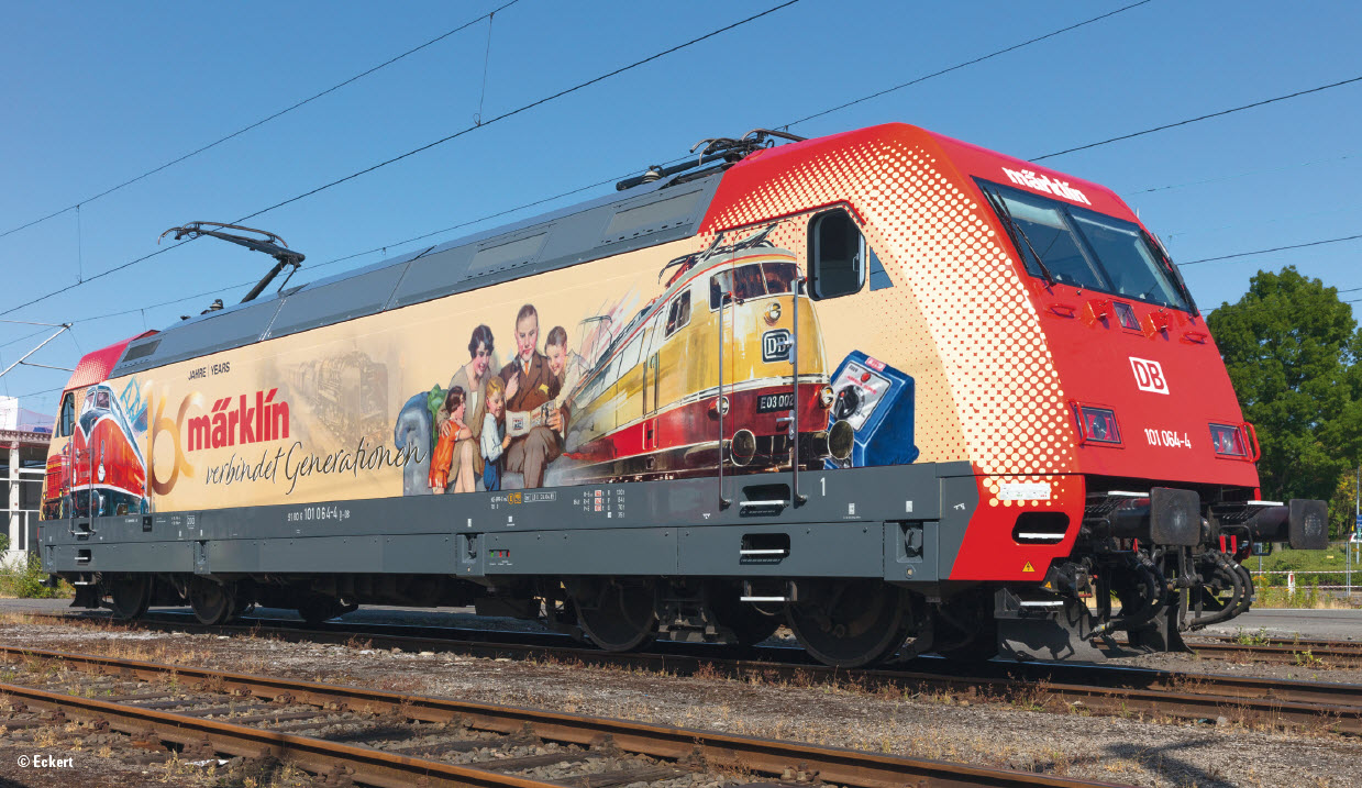 WOW! Marklin MHI Limited Edition BR101 Electric in '160 Years of Marklin' Livery