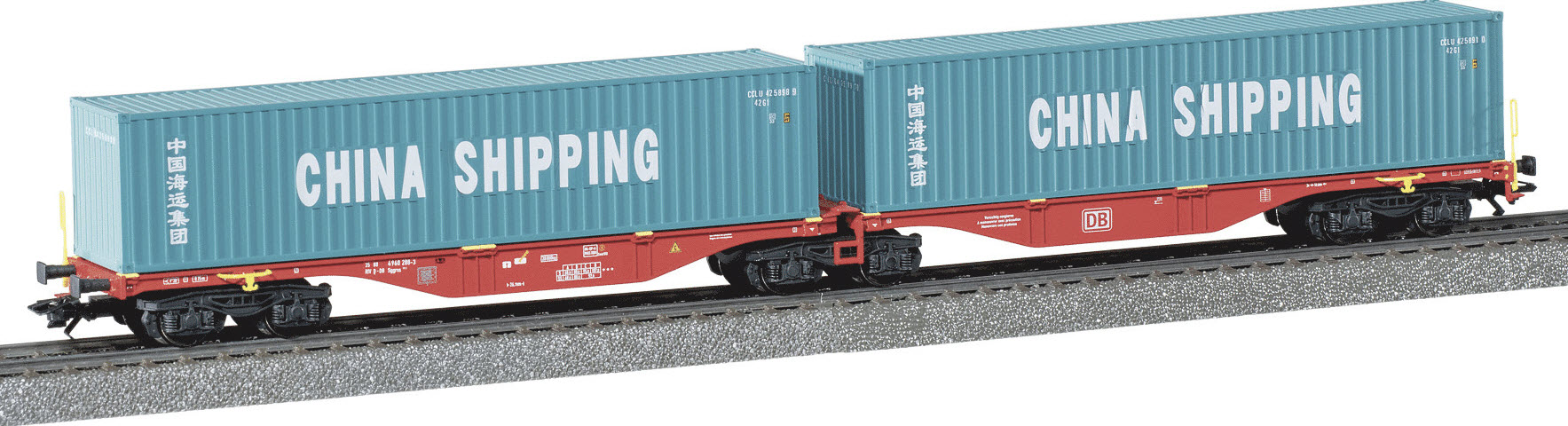 Marklin 47809 'China Shipping' Limited Run Container Car for EUROTRAIN