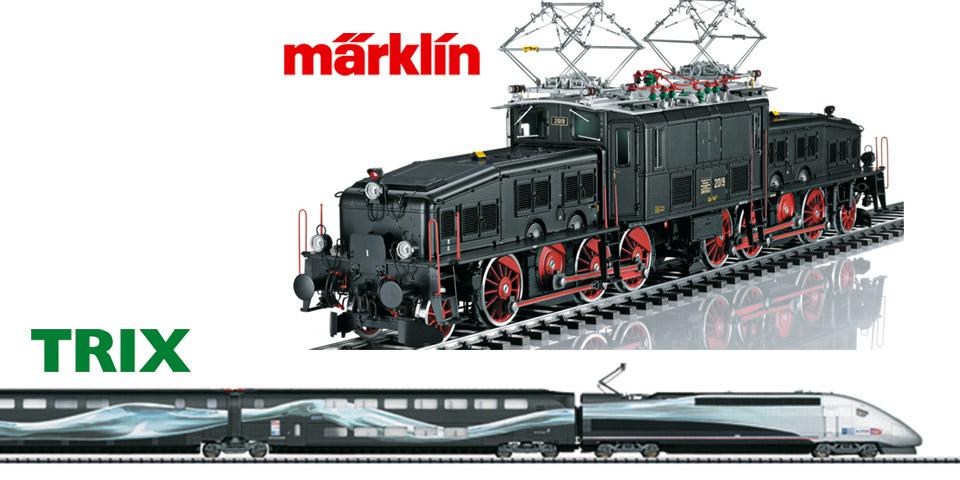 Marklin 1-Gauge Black Croc & TRIX H0 TGV Duplex Back in Stock