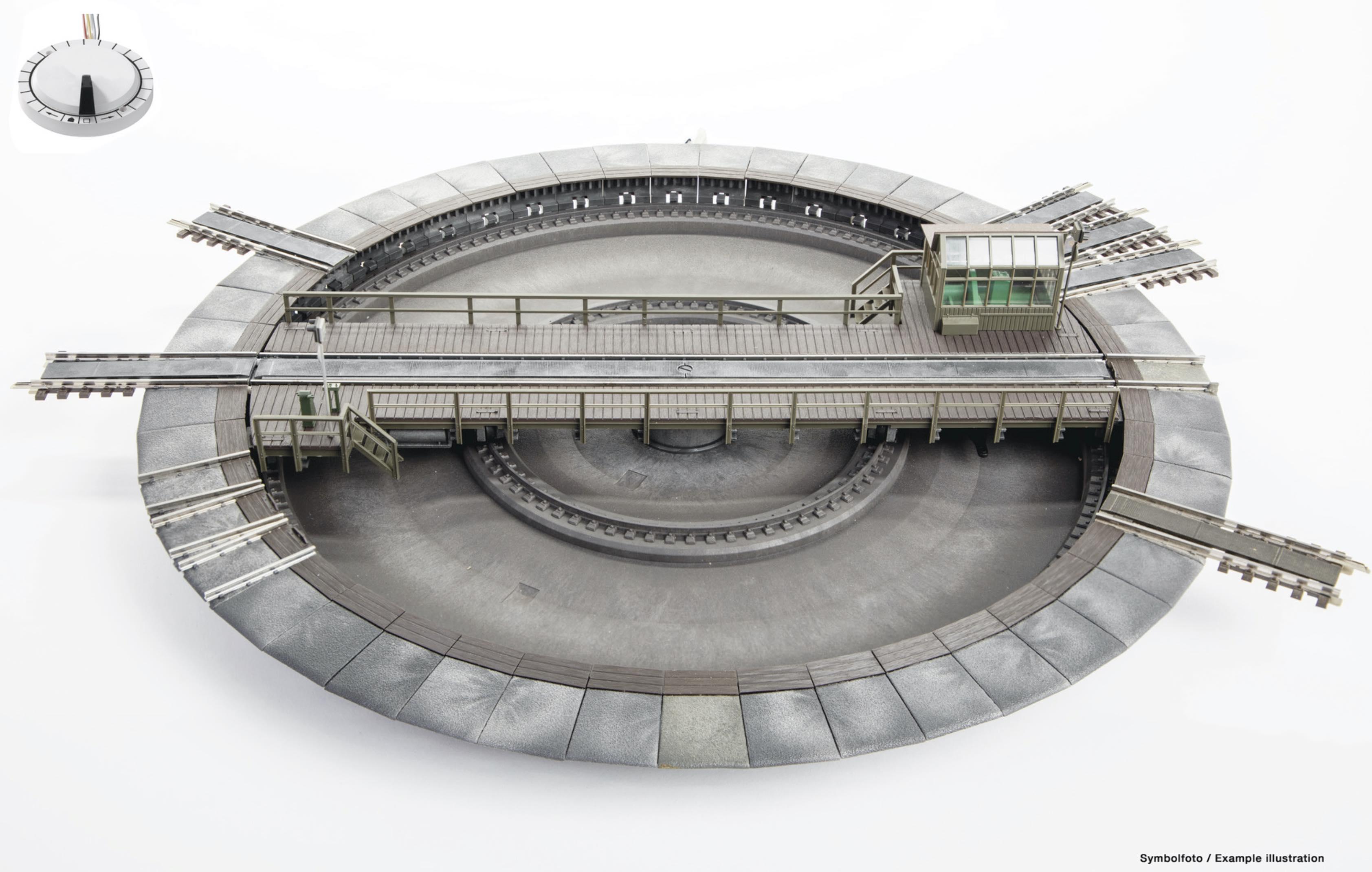 New production run of the Fleischmann HO turntable for Marklin