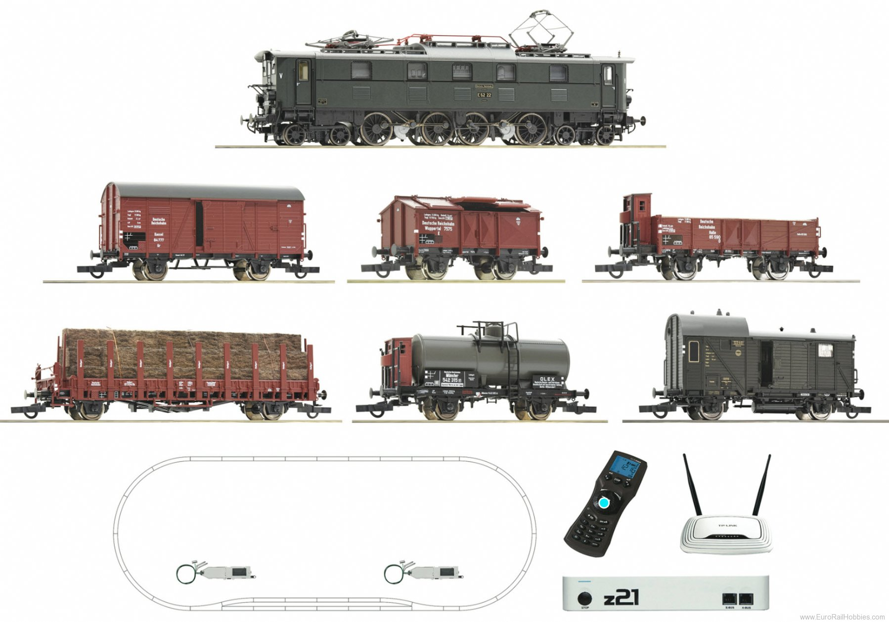 Roco 51323 DRG E52 Premium Digital Starter Set - Now available as a Train Set only