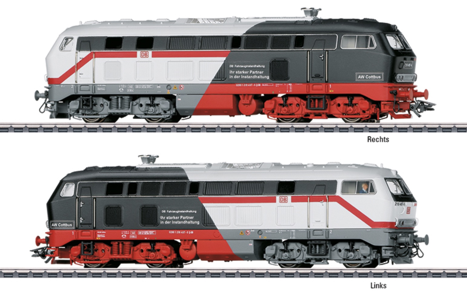 Marklin/MiniTrix Special HO/N/Z BR218 'Cottbus Maintenance' Locomotive