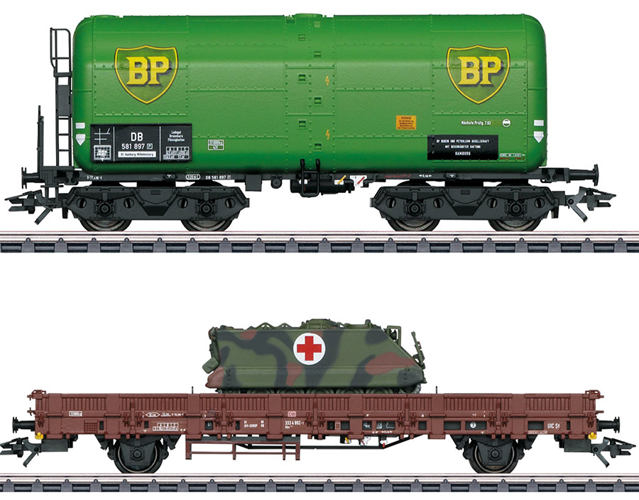 Two new limited EUROTRAIN HO freight cars from Marklin!