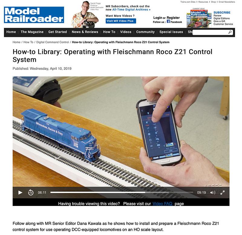 Roco/Fleischmann Z21 Digital Control System Featured in Model Railroader Magazine