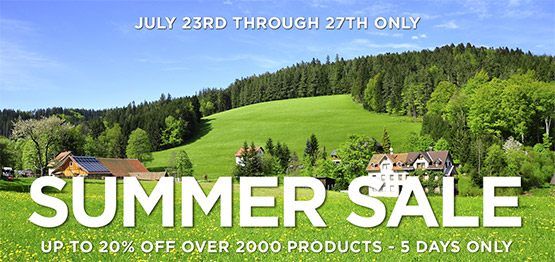 Updated - Our 2019 SUMMER SALE is Now Over
