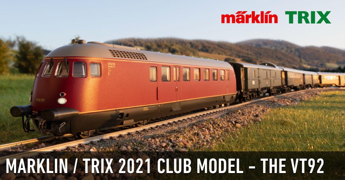 Marklin & Trix Announce the Second Insider/Profi Club Model for 2021, the VT92