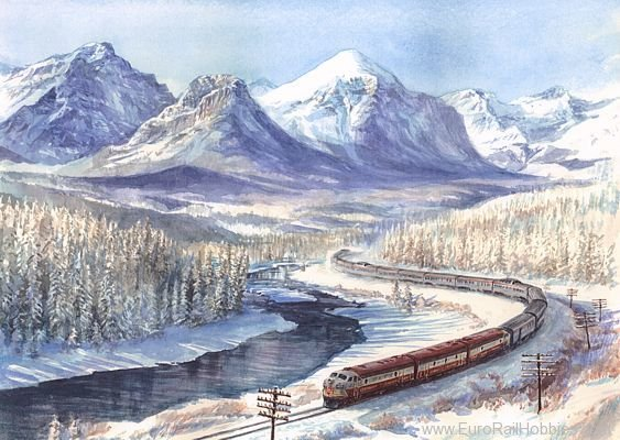 Art Prints 1040 F7 Canadian Passenger Express Train in the Ro