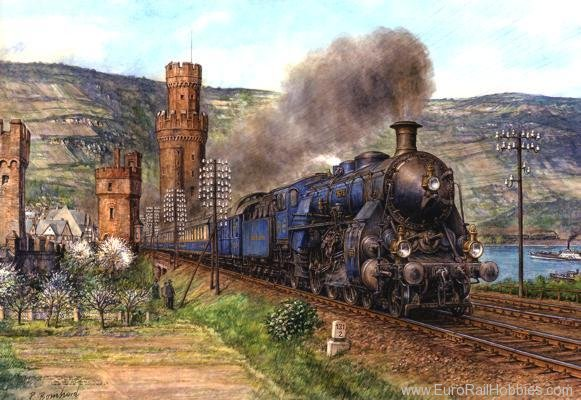 Art Prints 1041 S 3/6 Rheingold Express out of Oberwesel (Lar
