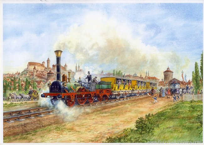 Art Prints 1070 Adler leaving Nurnberg, Germany