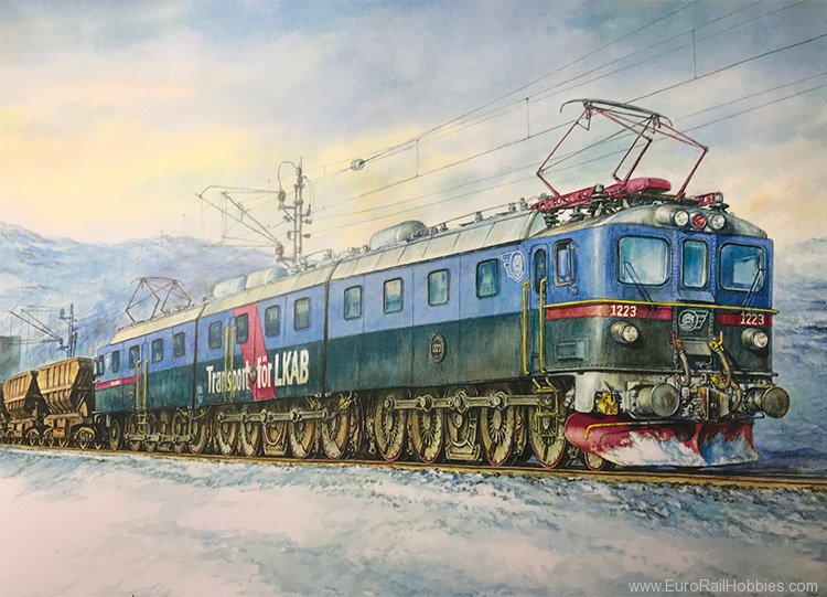 Art Prints 1076 LKAB 1223 Dm3 Heavy Locomotive