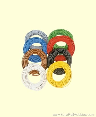 Brawa 3125 Dbl-Wire 0,14 mm², 5 m ring, blue