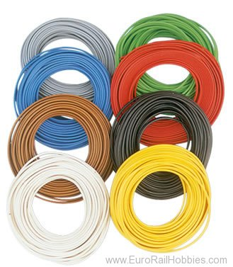 Brawa 3143 Wire 0,2 mm², 10 m ring, green