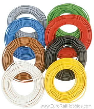 Brawa 3149 Wire 0,2 mm², 10 m ring, white