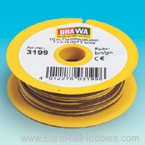 Brawa 3199 Cable Dual Core Yellow/Brown 10m