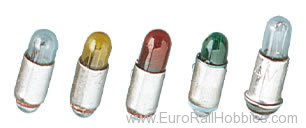 Brawa 3261 Bulbs with collar (for metal signals) red 16V