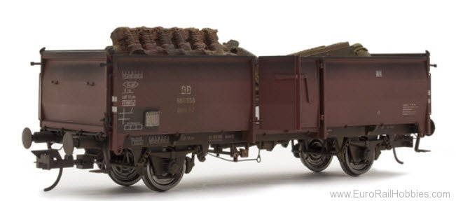 Brawa 37015 DB 'Weathered' Freight Car Omm52 E037 with We