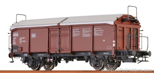 Brawa 37023 Sliding Roof Freight Car Ts 851 DB, with hand