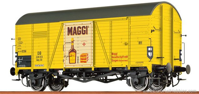 Brawa 37351 Covered Freight Car Gms 30 Maggi DB (Oppeln)