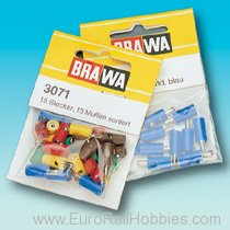 Brawa 3772 66 plugs, 34 sockets -  assorted colors