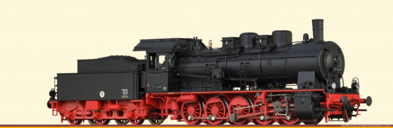 Brawa 40817 Steam Locomotive BR 57.10 DR (AC Digital Prem