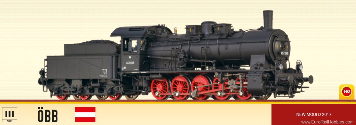 Brawa 40820 Steam Locomotive BR 657 OBB (DC Analog Versio