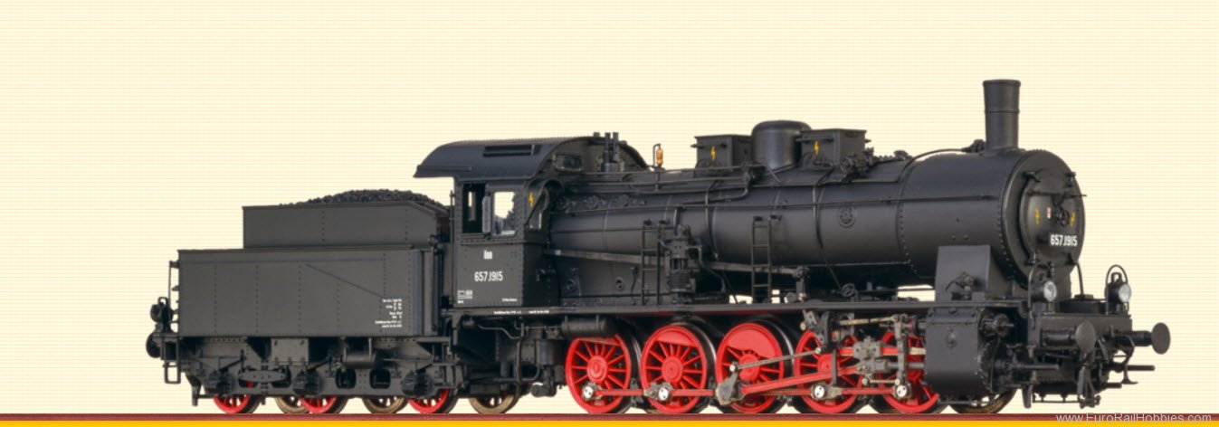 Brawa 40823 Steam Locomotive BR 657 OBB (AC Digital Premi