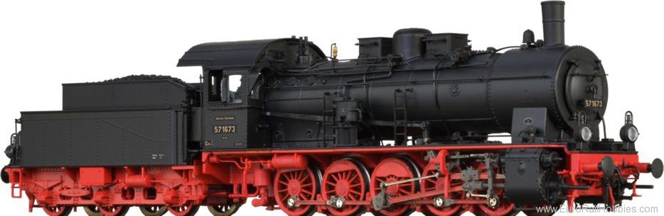 Brawa 40856 Steam Locomotive BR 57.10 DRG (DC Analog Vers