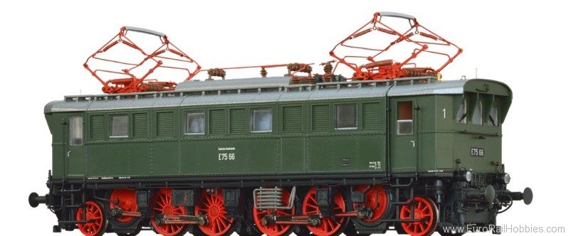 Brawa 43219 Electric Locomotive BR E75 DB (AC Digital Ext