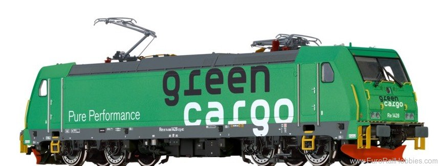 Brawa 43964 TRAXX Electric Locomotive Re1428 Green Cargo