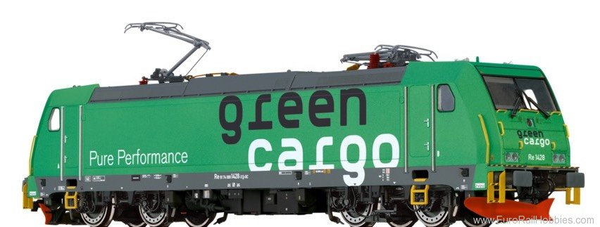 Brawa 43969 TRAXX Electric Locomotive Re1428 Green Cargo