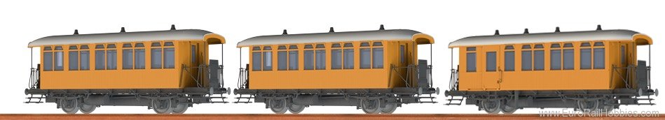 Brawa 45633 Passenger Coach Cu/CDu BBÖ, set of 3
