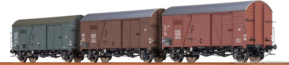 Brawa 45901 Covered Freight Car Gms 30 SAAR / OBB / SNCF