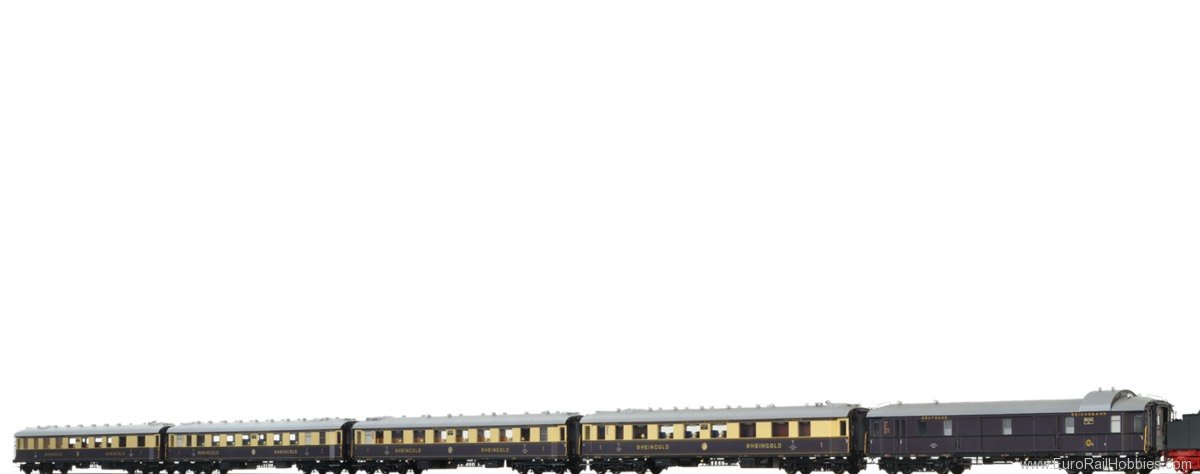 Brawa 45917 Rheingold Express Train Coach Set DRG, 5-unit
