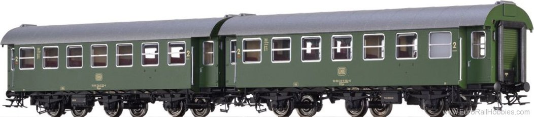 Brawa 46309 Passenger Coaches B3yge DB, set of 2