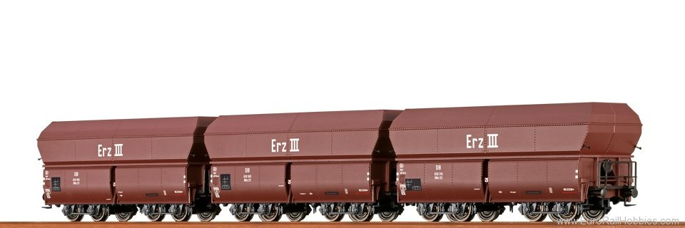 Brawa 47030 Coal Car OOtz DB, set of 3