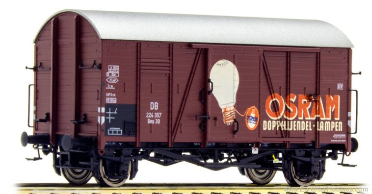 Brawa 47963 DB Covered Freight Car Gms 30 'OSRAM' - Speci