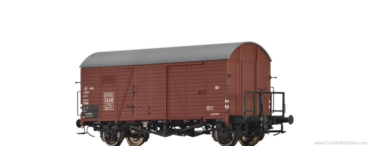 Brawa 47973 Covered Freight Car Gms 30 SAAR / EUROP