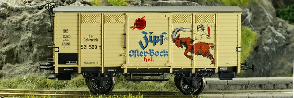 Brawa 48025 Covered Freight Car Zipfer Osterbock BBO (Fac