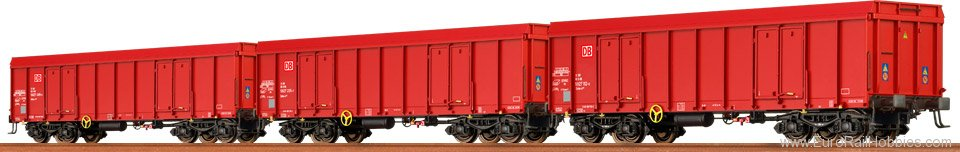 Brawa 48504 Open Freight Cars Eaos DB AG, set of 3