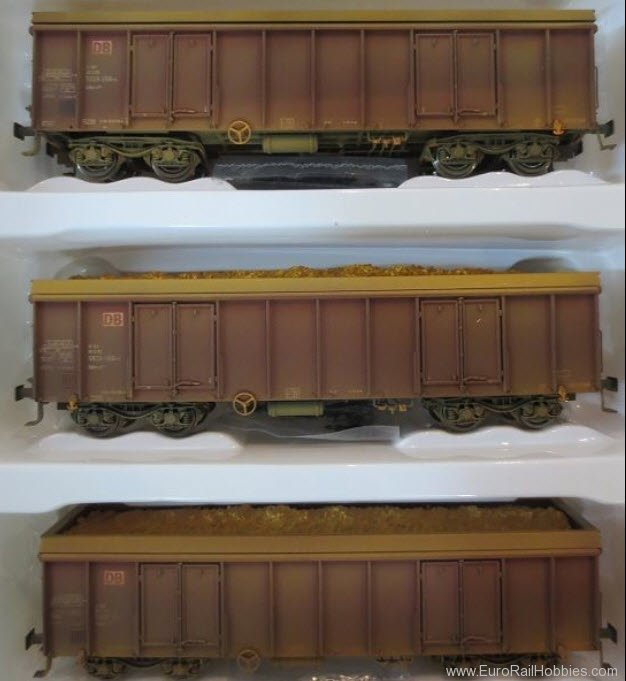 Brawa 48506 HO DB Ealos Freight Car, Set of 3, Special We