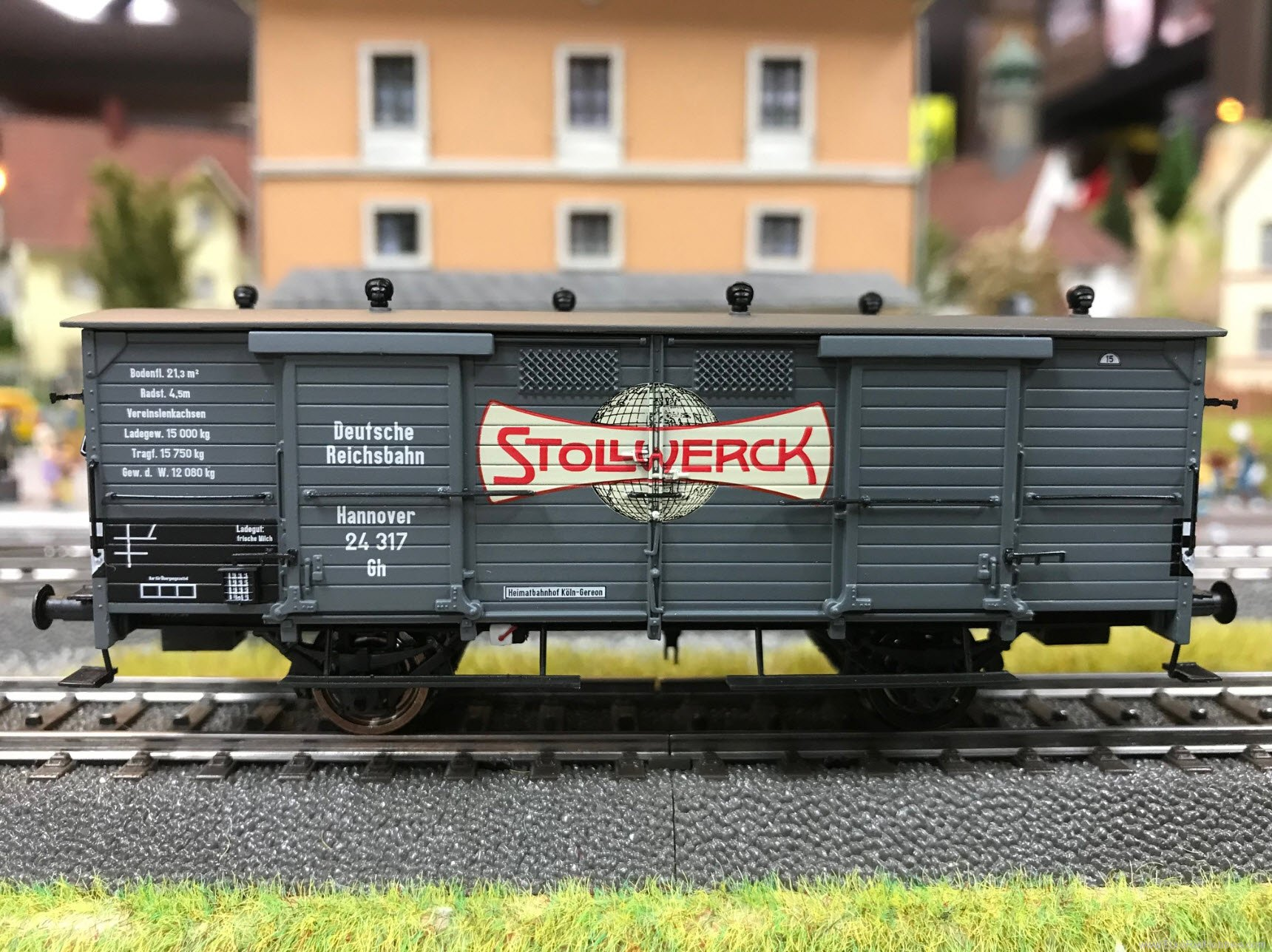 Brawa 48660 2017 Toyfair HO DRG Gh STOLLWERCK Freight Mil