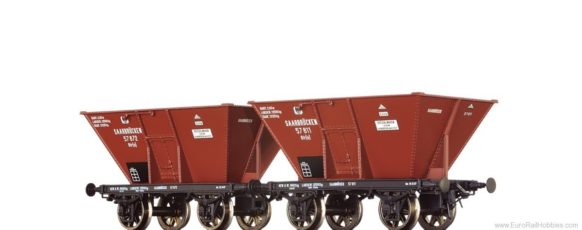Brawa 48802 Coal Cars Otr(u) K.P.E.V., set of 2
