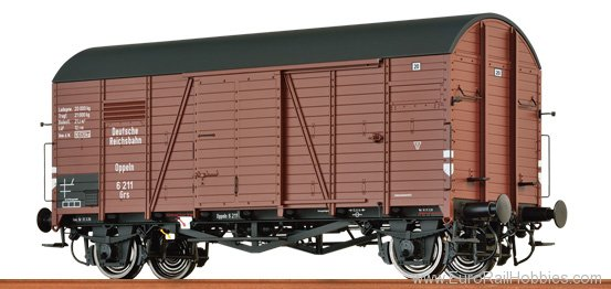 Brawa 48825 Covered Freight Car Grs 'Oppeln' DRG
